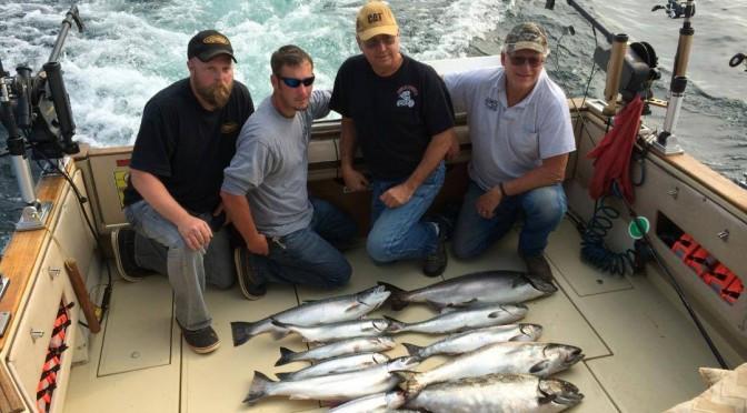 Kewaunee fishing charters with Slam Dunk Charters