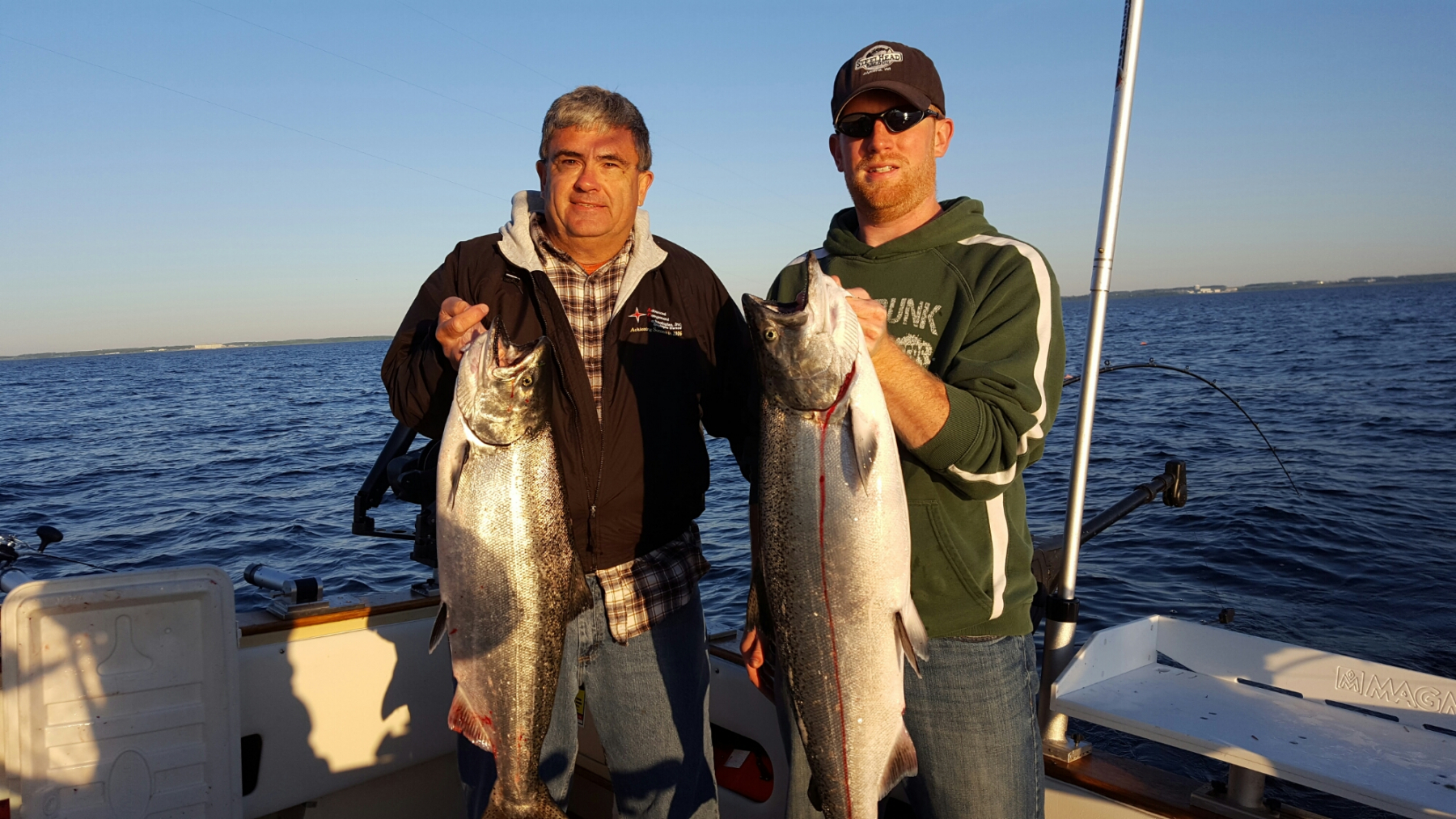 Captain Steve Grose, Slam Dunk Charters on Lake Michigan in Kewaunee Wisconsin