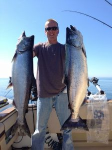 Captain Brian Boland, Slam Dunk Charters on Lake Michigan in Kewaunee Wisconsin