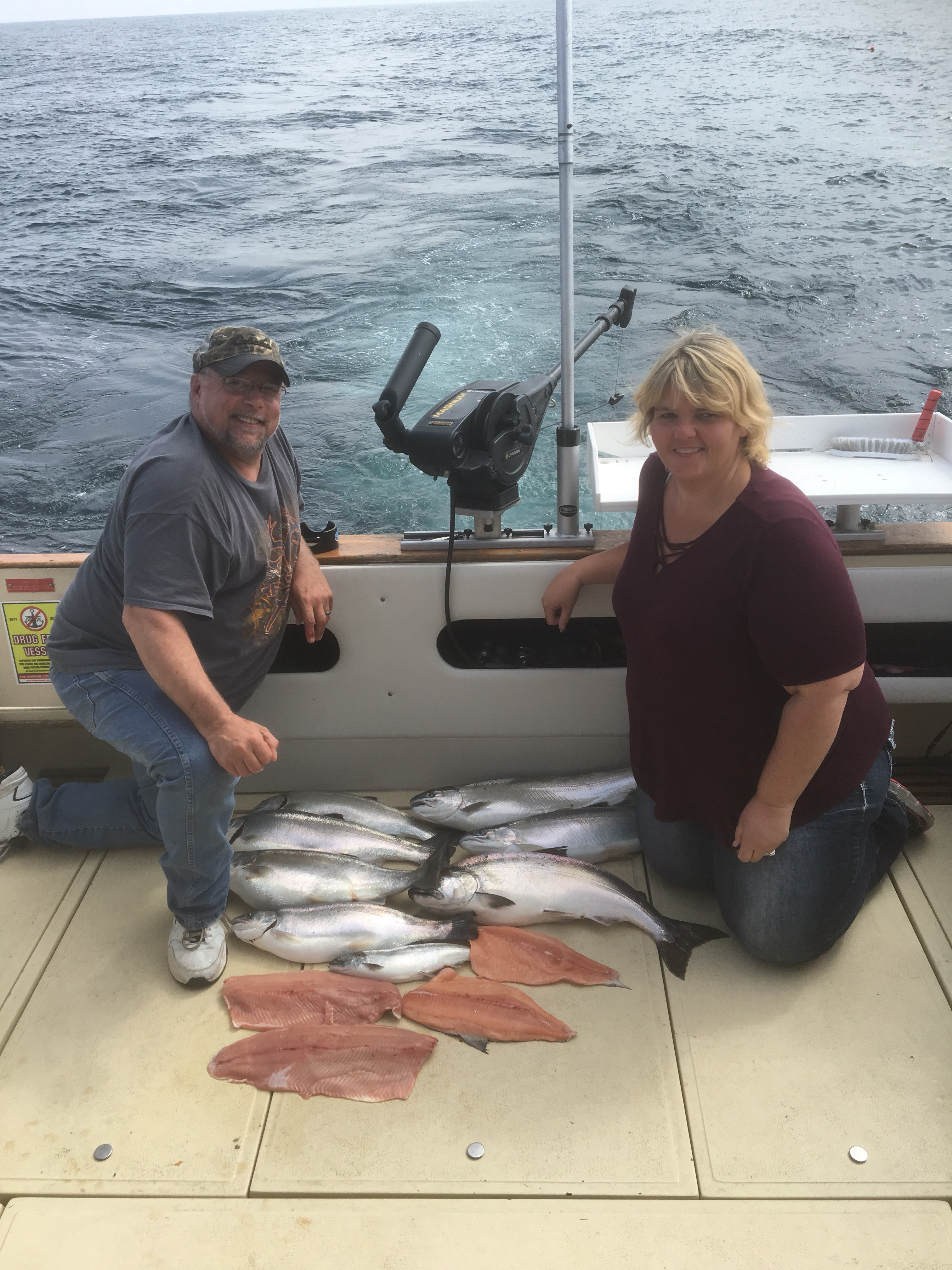 Book your 2018 fishing charter now slam dunk sport for Kewaunee fishing report