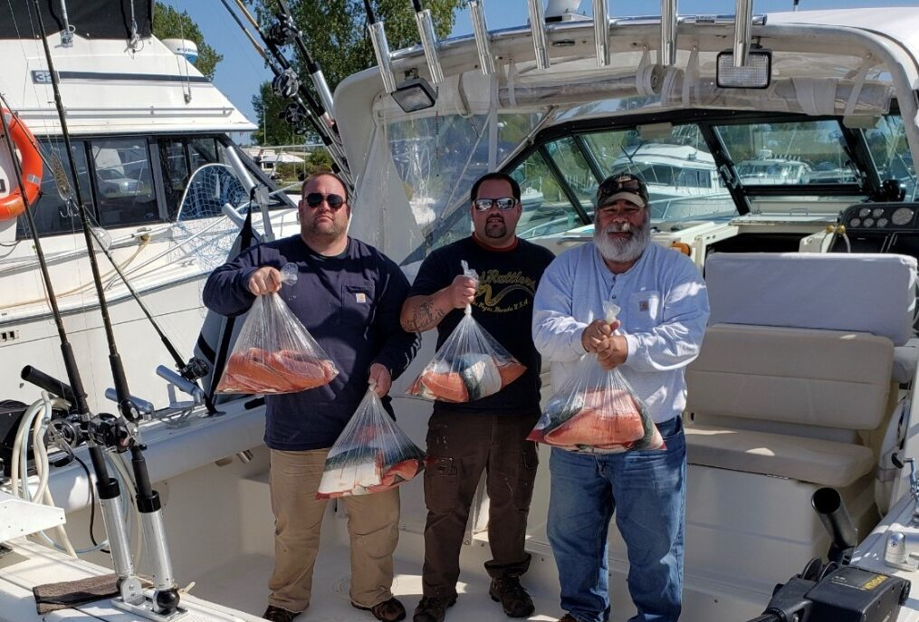Lake Michigan Fishing Charters in Kewaunee Wisconsin with Slam Dunk Charters LLC